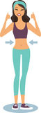 Fitness girl in perfect shape Royalty Free Stock Photo