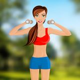 Fitness girl portrait Stock Image