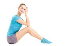 Fitness girl posing Stock Photos