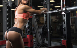 Fitness girl posing in the gym Stock Image