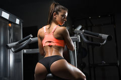 Fitness girl posing in the gym Royalty Free Stock Photos