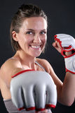 Fitness Girl Punch 1 Stock Photo