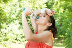 Fitness girl refreshing Royalty Free Stock Images