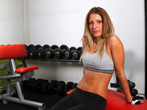 Fitness girl relaxing Royalty Free Stock Photos