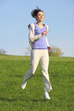 Fitness Girl running in the park Royalty Free Stock Photos