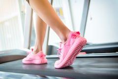 Fitness girl running Stock Photography