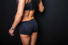 Rear view of fit woman Royalty Free Stock Image