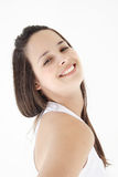 Fitness girl smiling royalty free stock image