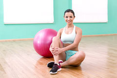 Fitness girl in sport club Royalty Free Stock Photo