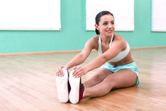 Fitness girl in sport club Stock Photo