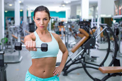 Fitness girl in sport club Stock Photography