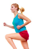 Fitness girl sport woman running jogging isolated Royalty Free Stock Image