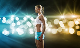 Fitness girl Royalty Free Stock Photography