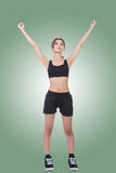 Fitness girl stretch and feel fre Stock Photography