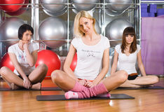 Fitness girls Stock Image