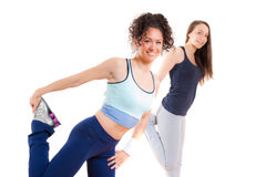 Fitness girls exercising Royalty Free Stock Photos
