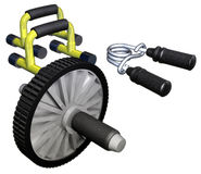 Fitness goods Stock Photography
