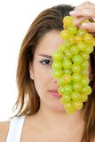 Fitness grapes Royalty Free Stock Image