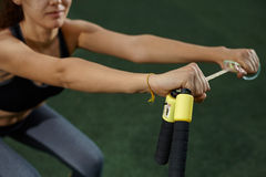 Fitness on the grass Royalty Free Stock Photo