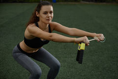 Fitness on the grass Royalty Free Stock Photography