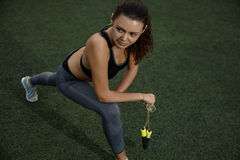 Fitness on the grass Royalty Free Stock Photos