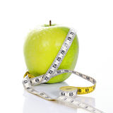 Fitness green apple Royalty Free Stock Photography