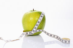 Fitness green apple Royalty Free Stock Images