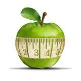 Fitness Green Apple Stock Photo