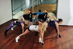 Fitness group Stock Images