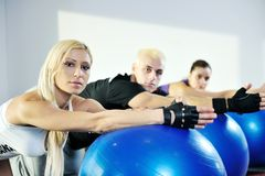 Fitness group Royalty Free Stock Image