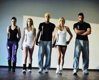Fitness group Royalty Free Stock Images