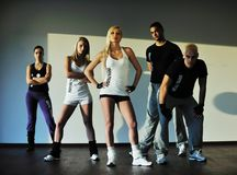 Fitness group Stock Image