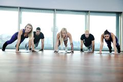 Fitness group Royalty Free Stock Photography