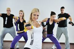 Fitness group Royalty Free Stock Photos