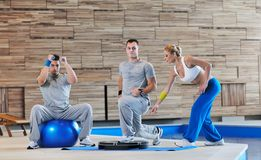 Fitness group exercise Stock Image