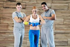 Fitness group exercise Royalty Free Stock Images