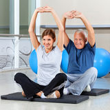 Fitness group stretching their Stock Images