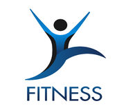 Fitness Guy logo Royalty Free Stock Images