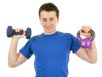 Fitness guy Stock Photography
