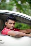 Fitness Guy In Car Stock Image