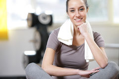 Fitness at gym Stock Image