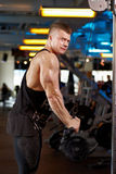 In fitness gym a Royalty Free Stock Photos