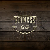 Fitness gym badges logos and labels for any use Royalty Free Stock Images