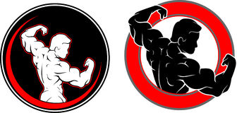 Fitness Gym Blank Logo Stock Photos