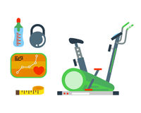 Fitness gym club vector icons. Stock Images