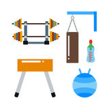 Fitness gym club vector icons. Stock Photos
