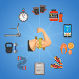 Fitness and Gym Concept Royalty Free Stock Image