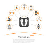 Fitness and Gym Concept Royalty Free Stock Photos