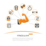 Fitness and Gym Concept Royalty Free Stock Images