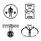 Fitness gym emblems Stock Photography